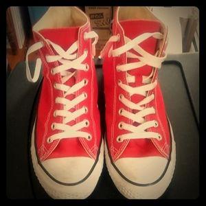 Red hightop Converse Sneakers